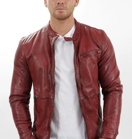 Freaky Nation Giants Leather Jacket Red