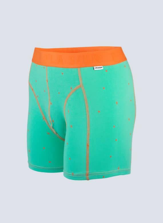 Cheaque Cheaque P'la Seur Boxer Green/Orange