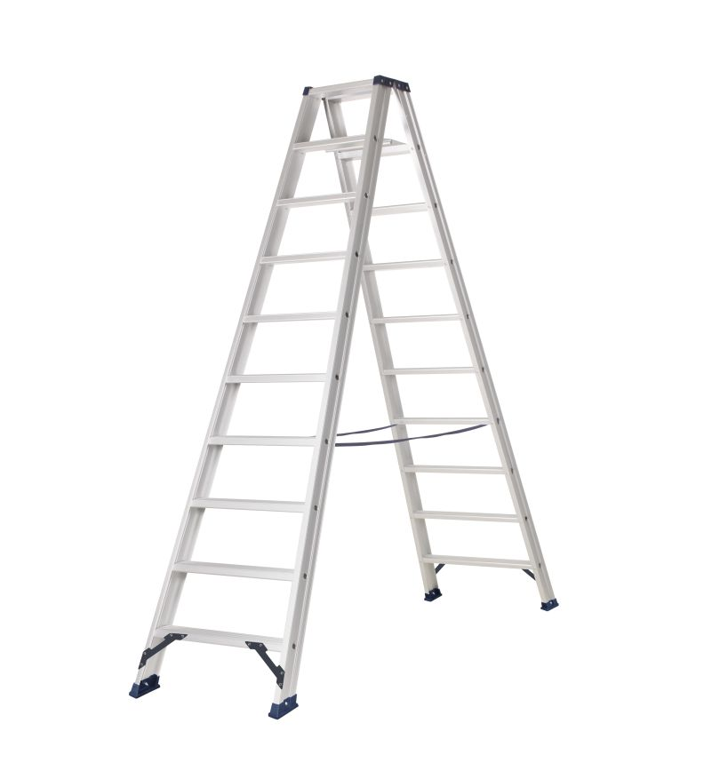 das hercules ano escabeau double 2 x 10 marches ladder steiger. Black Bedroom Furniture Sets. Home Design Ideas