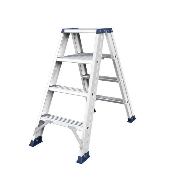 das hercules ano escabeau double 2 x 4 marches ladder steiger. Black Bedroom Furniture Sets. Home Design Ideas