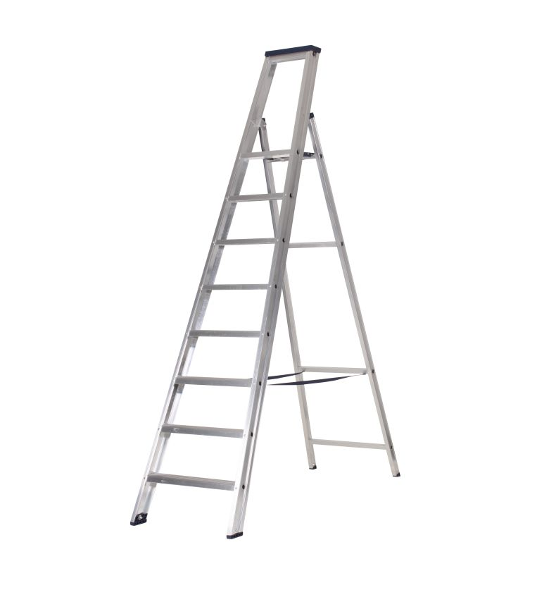 das premium stufen stehleiter 8 stufen ladder steiger. Black Bedroom Furniture Sets. Home Design Ideas