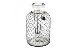 Glass Wire Lantern L