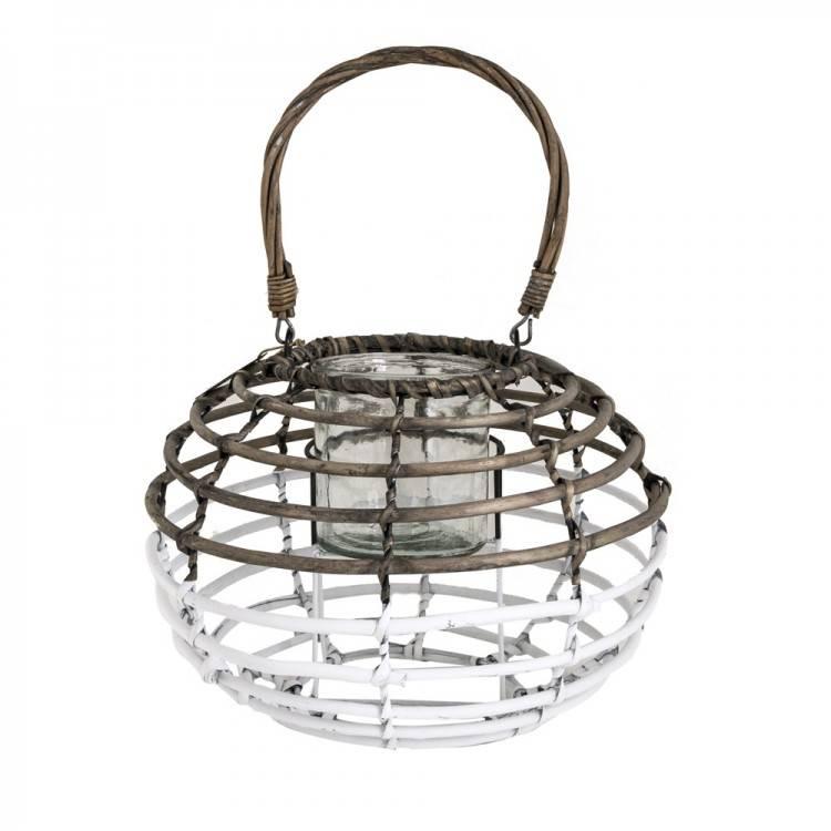 LIL Reed/Glass Lantern Globe M