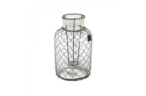 Glass Wire Lantern S