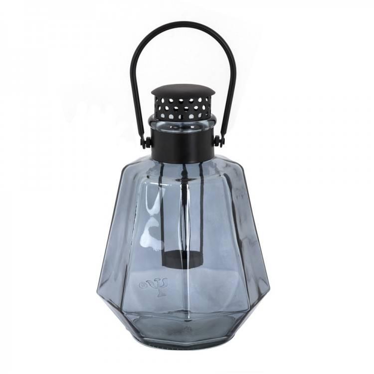 LIL Glass Lantern Light Blue