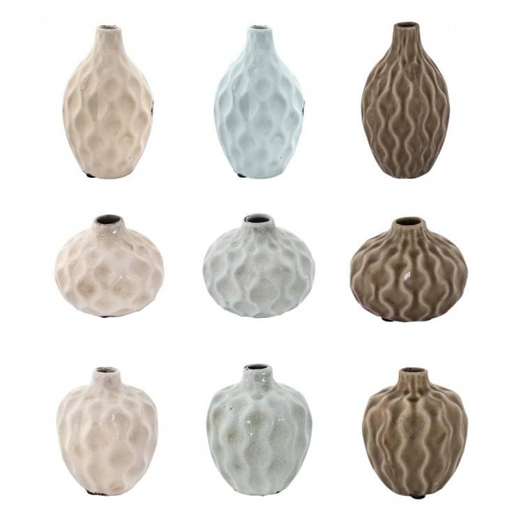 LIL Ceramic Vase Honeycomb ASS.3