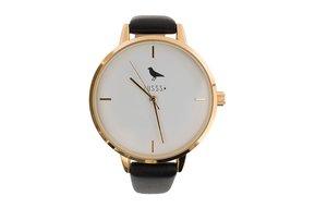 Hip horloge, goud zwart