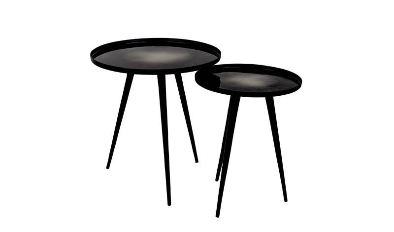 Zuiver site table Flow set of 2 black