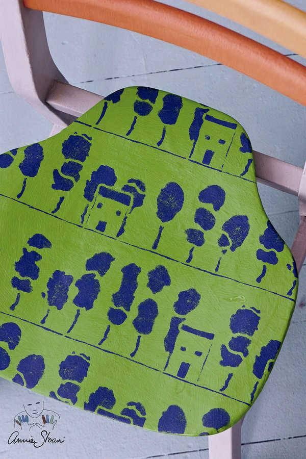 Annie Sloan Sjabloon A3: Trees