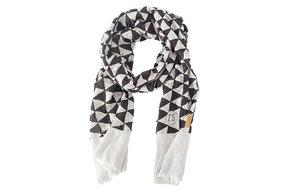 sjaal driehoek krijt zwart
