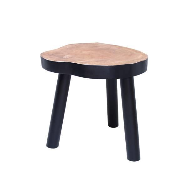 HKliving Boom tafel zwart klein, Ø 33cm