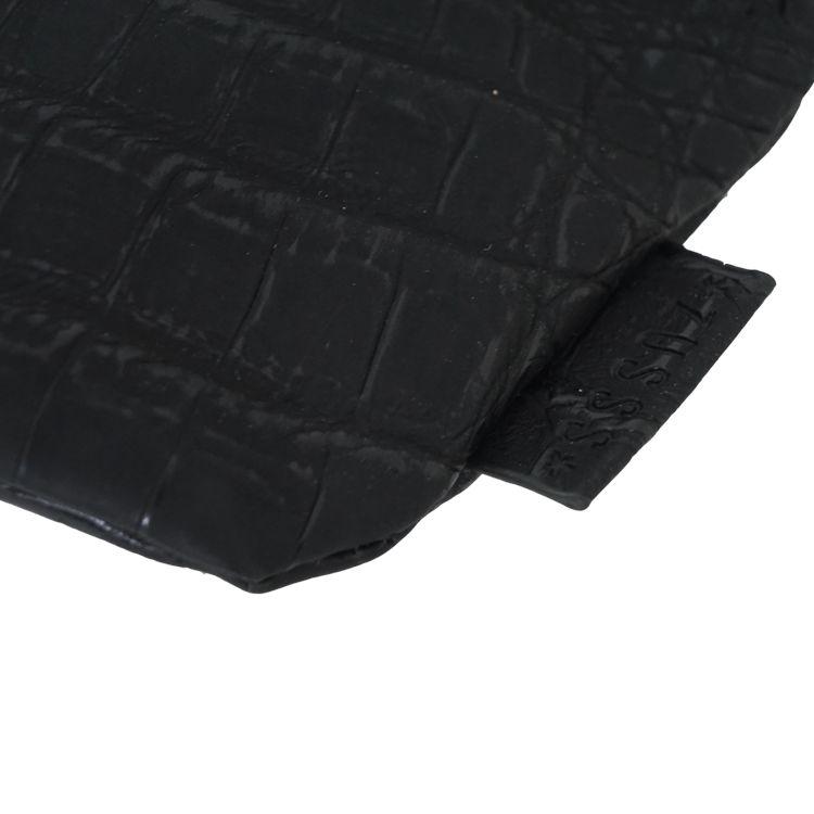 Zusss Knip portemonnee Kroko Zwart