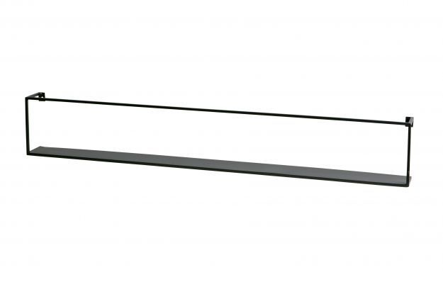 WOOOD Meert Wandplank 100cm zwart 370110-Z