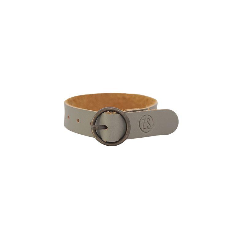 Zusss Zusss armband ronde gesp Zeegrijs
