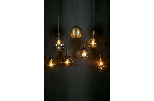 BePureHome Pure vintage hanglamp glas antique brass