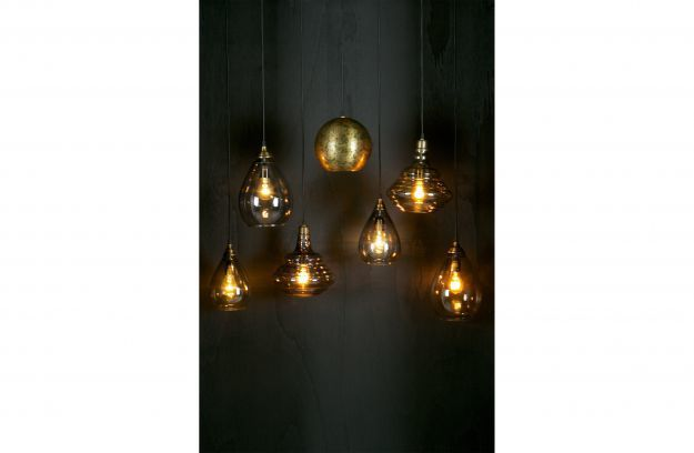 BePureHome Simple hanglamp glas large antique brass