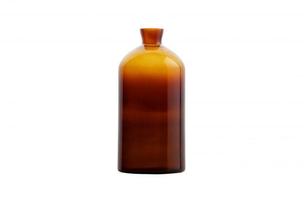 BePureHome Chemistry glazen vaas x-large bruin 17x40