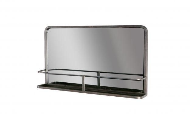 BePureHome Reflection Horizontale Spiegel met planchet antique black