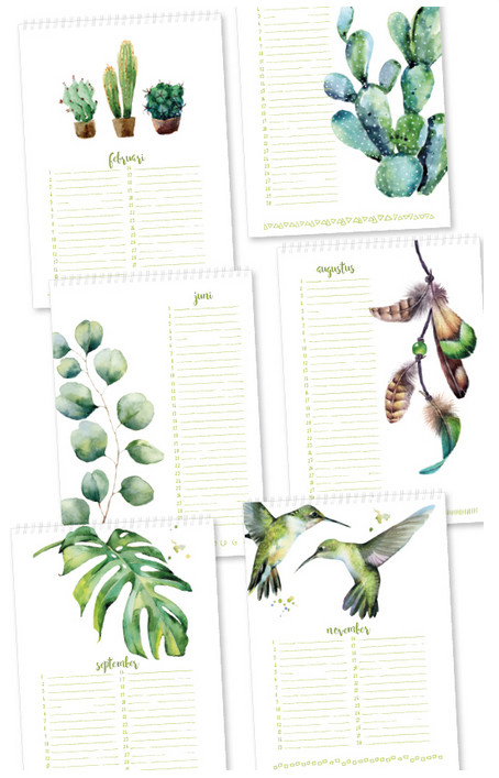 Jots Verjaardagskalender, botanisch