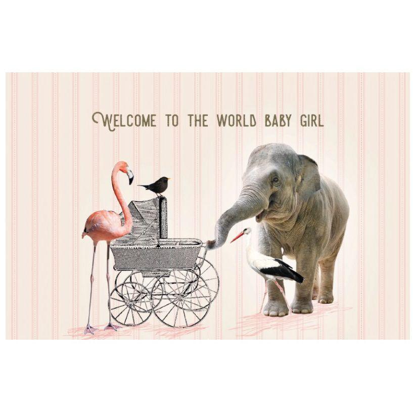 Enfant Terrible Kaart Vintage 1963 welcom baby girl