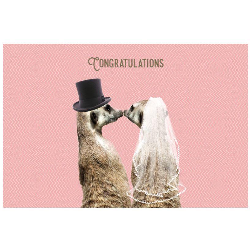 Enfant Terrible Kaart Vintage 1968 congratulations huwelijk