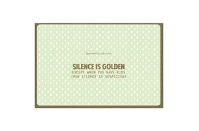 Kaart Nordic 991 silence is golden