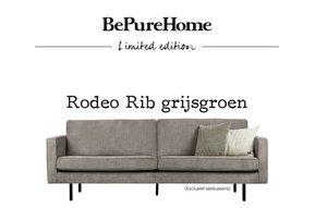 Bank Rodeo Rib grijsgroen limited edition