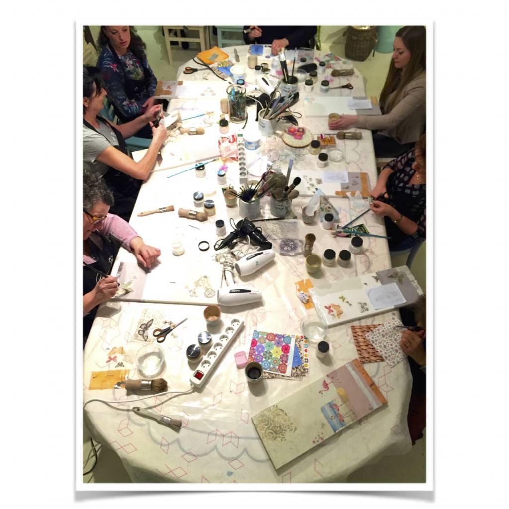 Workshop verftechnieken 2 Annie Sloan