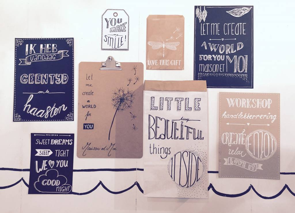 Maison et Moi Workshop Handlettering
