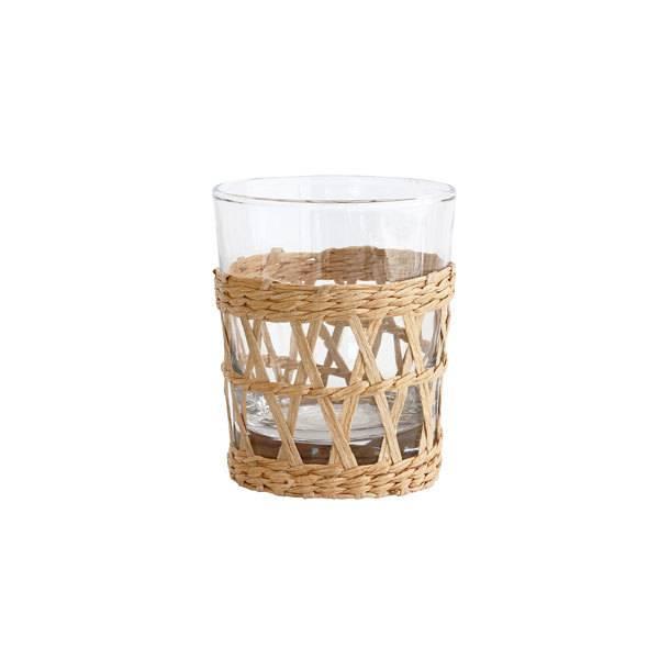HKliving Drinkglas met gevlochten handvat