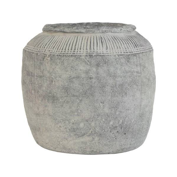 HKliving Grote Bloempot Cement