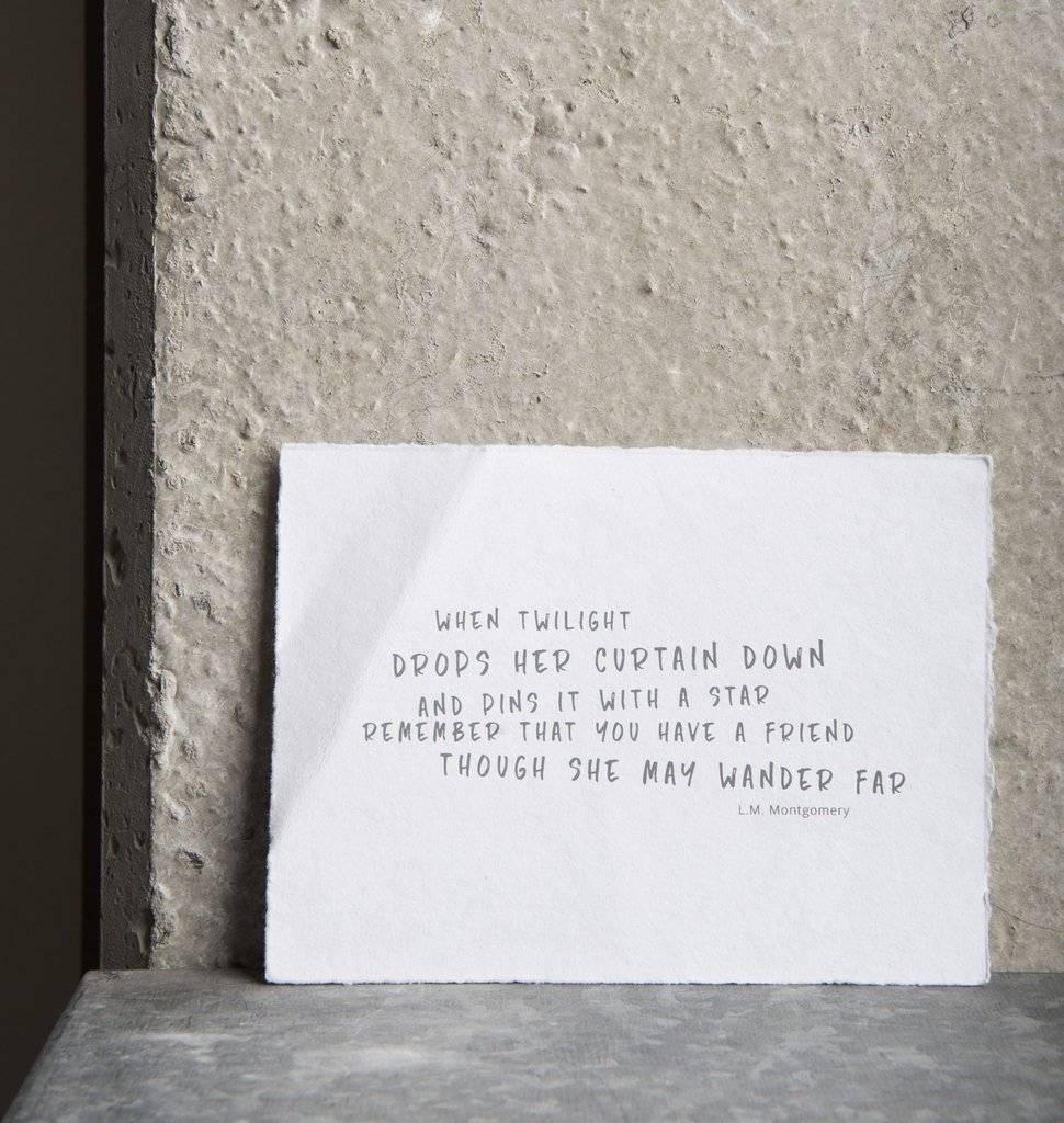UNC URBAN NATURE CULTURE AMSTERDAM Wish Card Friendship