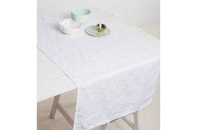 Table Runner White, 100% pure linen