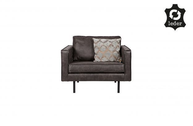 BePureHome Rodeo Love-seat eco leather zwart