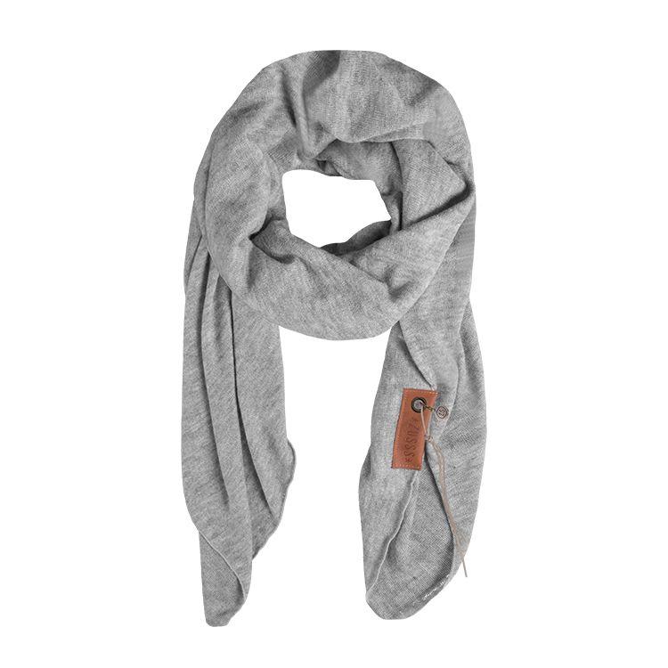 Zusss Stoere grote sjaal poedergrijs