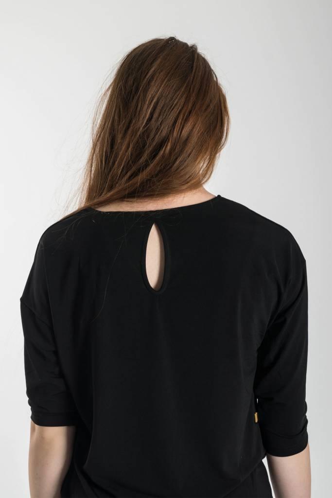 Zusss Eigenwijs jurkje zwart M/L