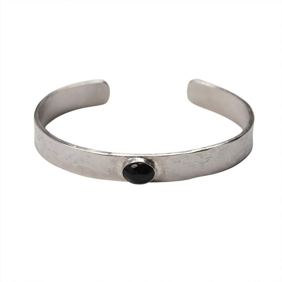 a Beautiful Story Liberty Black Onyx Silver Bracelet