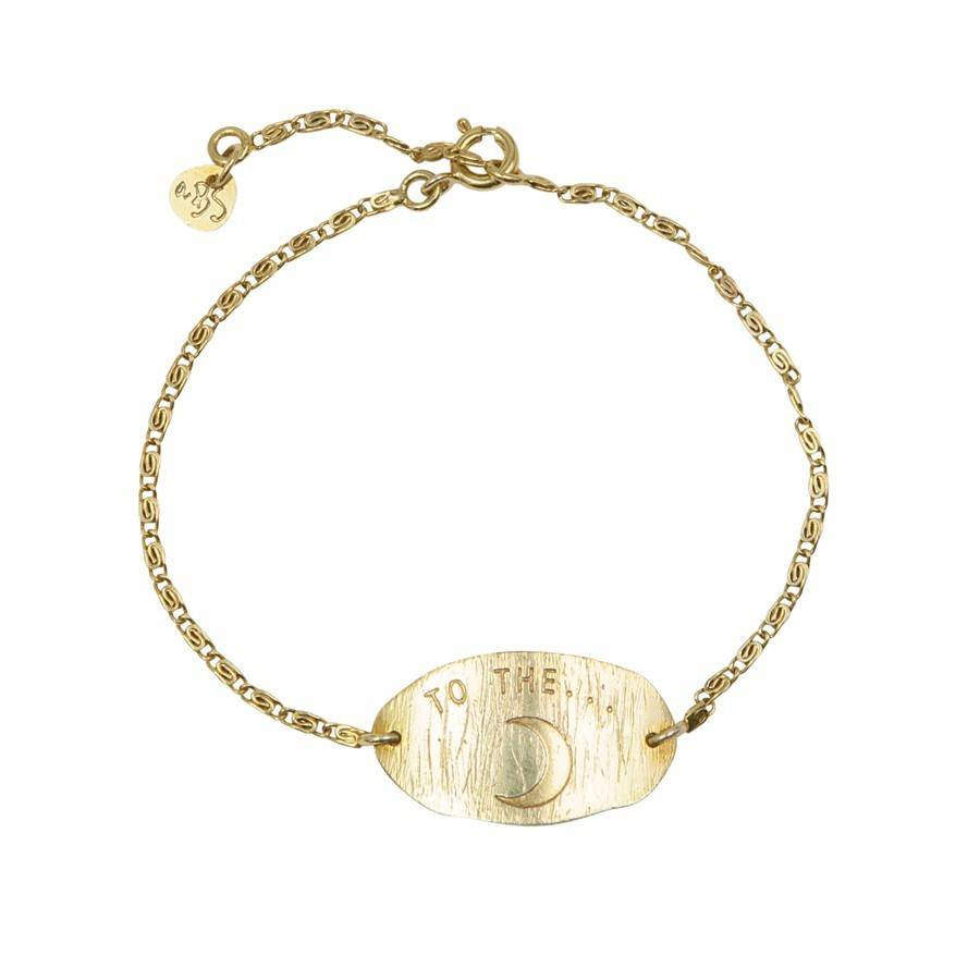 a Beautiful Story Wish Moon Gold Bracelet