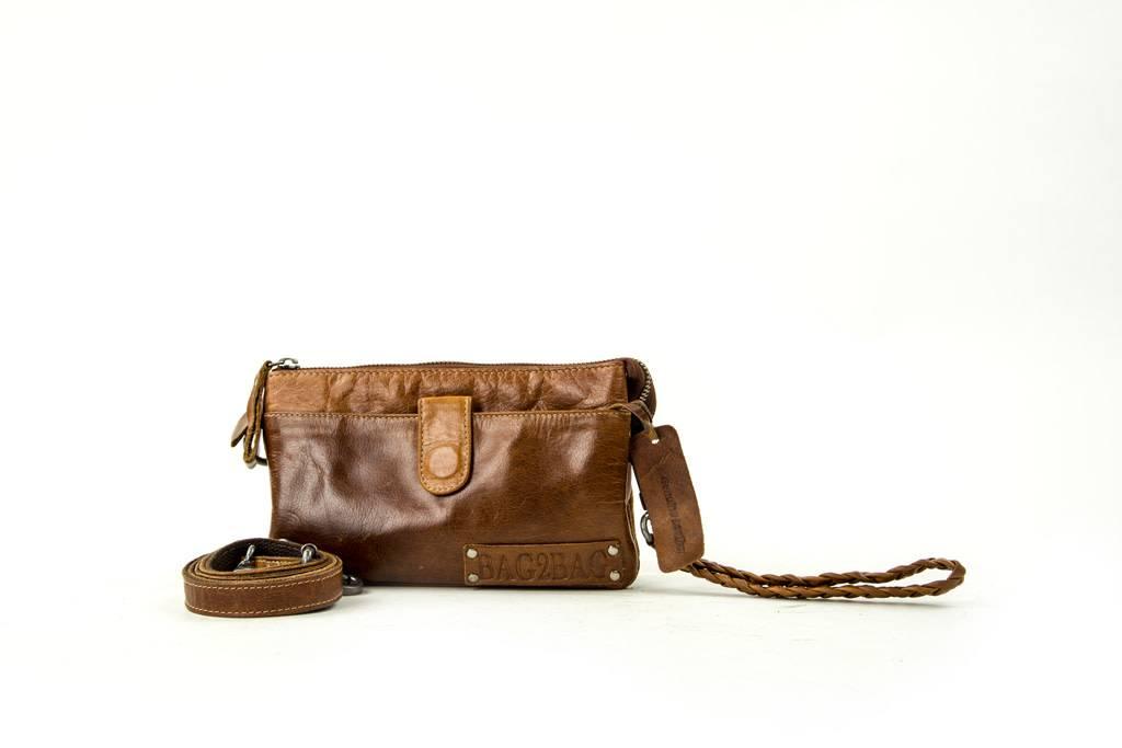 Bag2Bag Dover handige clutch / tasje Tan