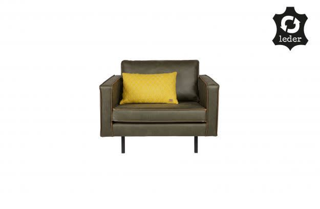 BePureHome Rodeo Love-seat eco leather Army