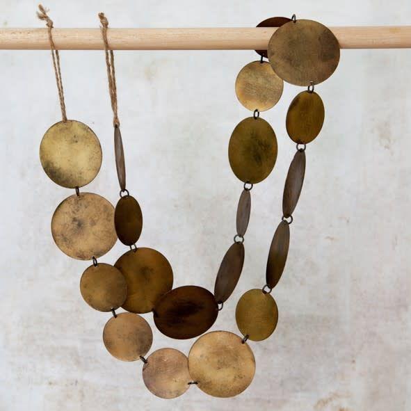 Ranu Metal Garland - Antique Brass
