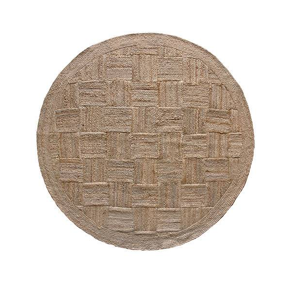 HKliving Patched jute rug round 200cm