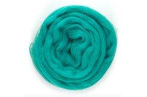 Lontwol voor armbreien XXL, geverfd turquoise1 kg