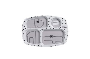 Compartment Plate, Grey