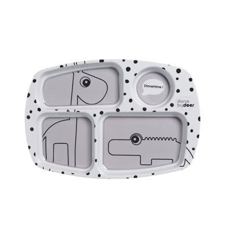 Done by Deer Compartment Plate, Grey