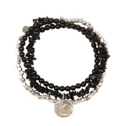 a Beautiful Story Flair Zwarte Onyx zilver armband