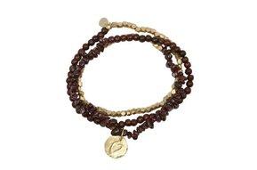 Flair Granaat goud armband