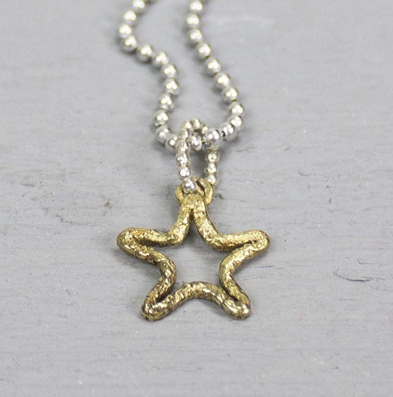 Jéh Jewels 18344 - Hanger zilver + messing