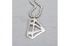 18623 - Hanger zilver wit diamant