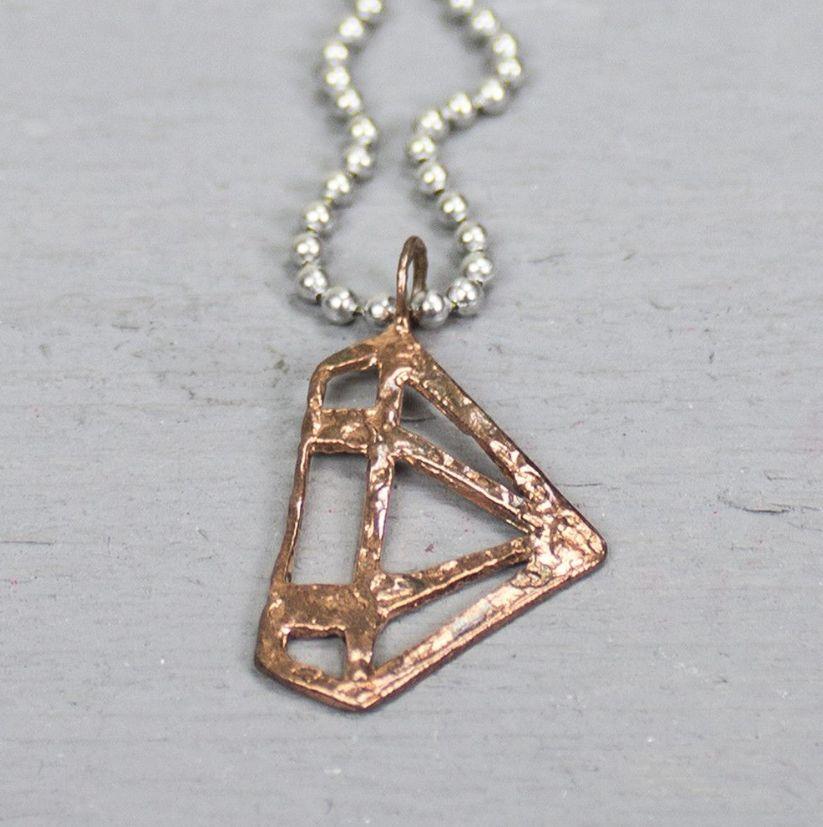 Jéh Jewels 18661 - Hanger roodkoper diamant